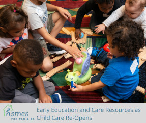 Early Education and Care Resources as Child Care Re-Opens